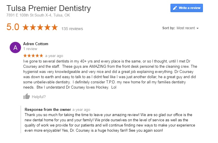 cosmetic dentist tulsa